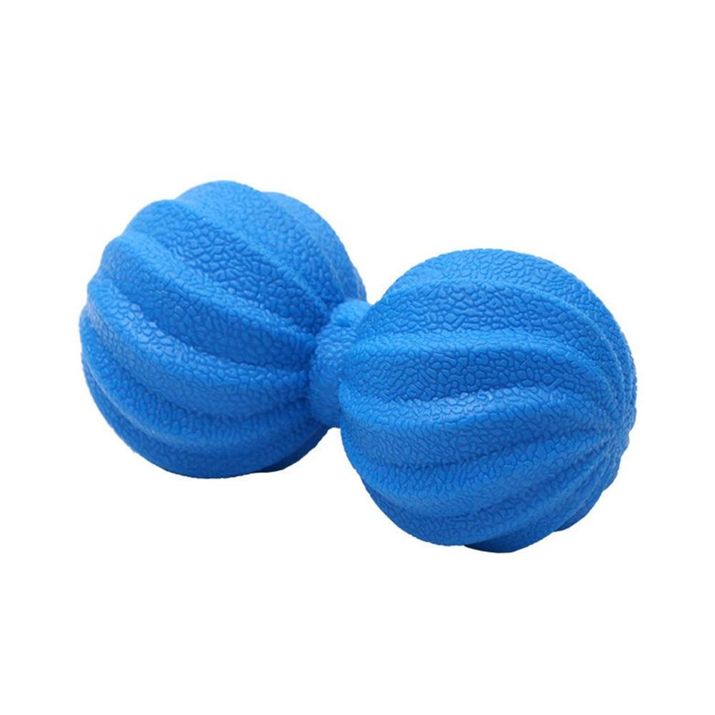 Mlec tech Massageball TPE Spiracle Erdnussförmiger Massageball zur Muskelentspannung und Selbstmassage gelb, grün, blau