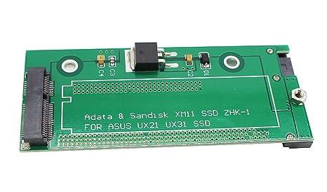 SSD a 2,5 SATA adaptador tarjeta para Asus UX31 UX21 y Adata XM11 ...