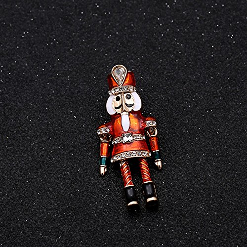 fairy tale Nutcracker retro exquisite enamel drip enamel diamond brooch pin brooch coat - Coat Nutcracker