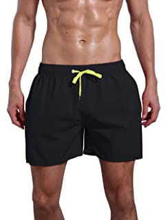 393945ca3de0a QRANSS Men's Quick Dry Swim Trunks Bathing Suit Beach Shorts