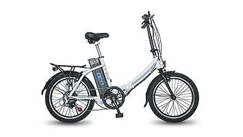 Legend eBikes BCN Bicicleta eléctrica Plegable, Unisex Adulto, Blanco, Talla Única