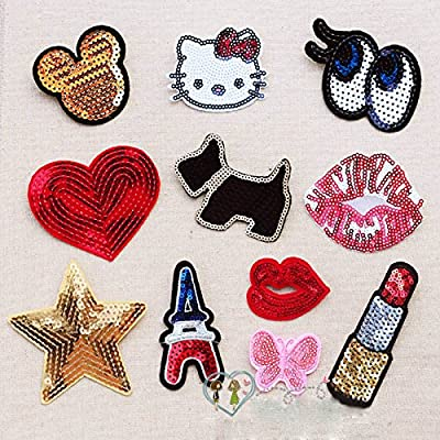 FairyMotion Small Sequins Bead Piece Clothing Jeans Patch T-Shirt Bags Decorative Decal Can Ironing Or Hand Sewing Perfect Patches