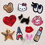 CoolPart Small Sequins Bead Piece Clothing Jeans Patch T-Shirt Bags Decorative Decal Can Ironing Or Hand Sewing Perfect Patches