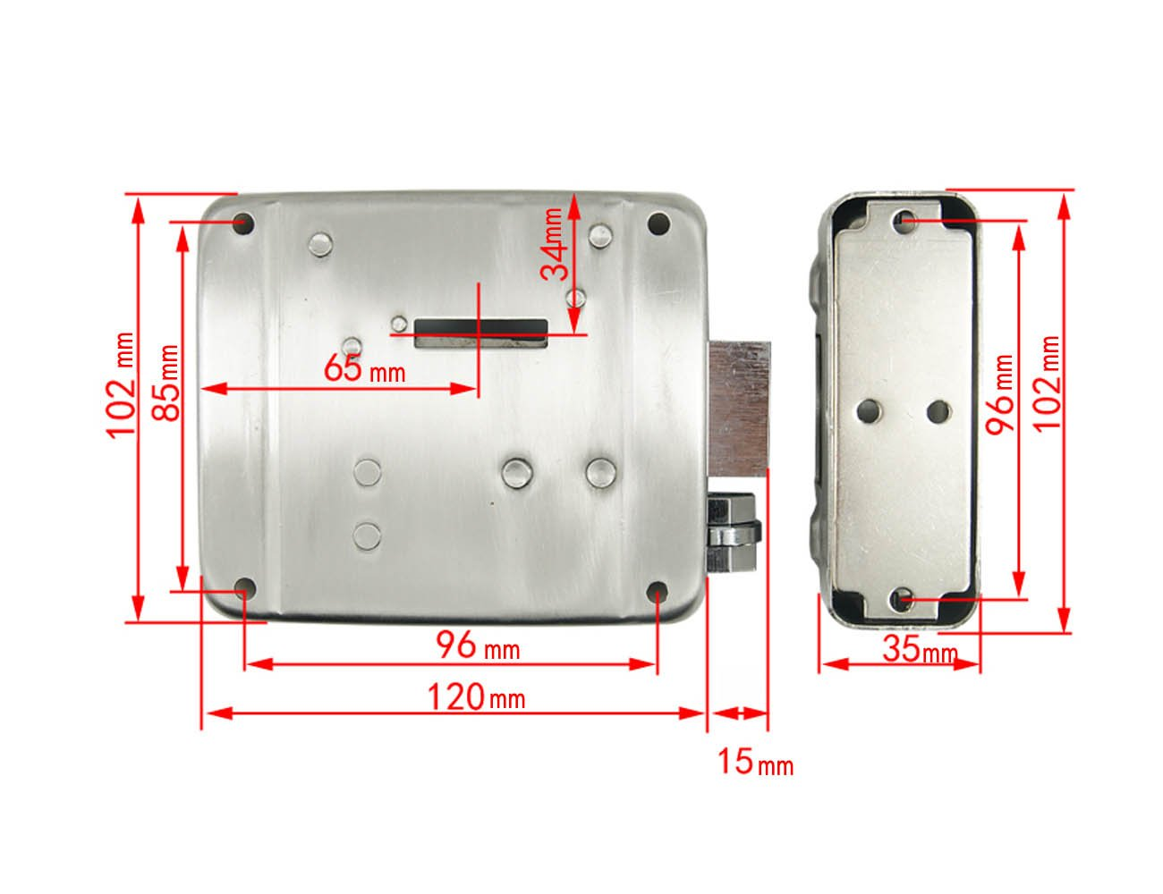 Electric Electronic Door Locks Tpekka Dc 12v Fence Gate E Lock Gdx Intercom Wiring Diagram Support Install Wooden Glass Metal Fireproof For Doorbell Access Control Security System