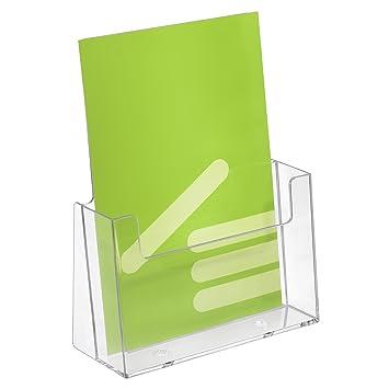 5 pieza DIN A5 prospectos y catálogos (// - Soporte para prospectos/ - Expositor verticales transparente: Amazon.es: Oficina y papelería