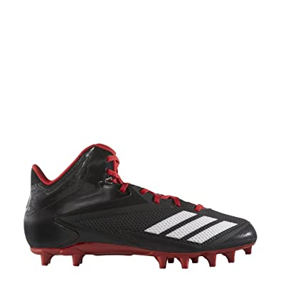 timeless design 7ef5d 74bf5 adidas Mens 5-Star Mid Football Shoe, BlackWhitePower Red,