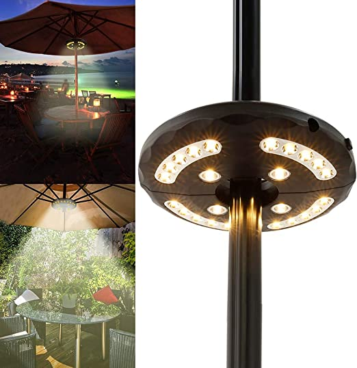 Varillas de luz LED para exteriores para tienda de campaña, luces de emergencia para sombrilla, luz portátil, playa, patio, jardín, luces de emergencia, negro: Amazon.es: Bricolaje y herramientas