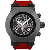 Mulco Evol Daccar Quartz Swiss Chronograph Men's Watch | Premium Analog Display with Gun Metal and Steel Accents | Silicone Watch Band | Water Resistant Stainless Steel Watch