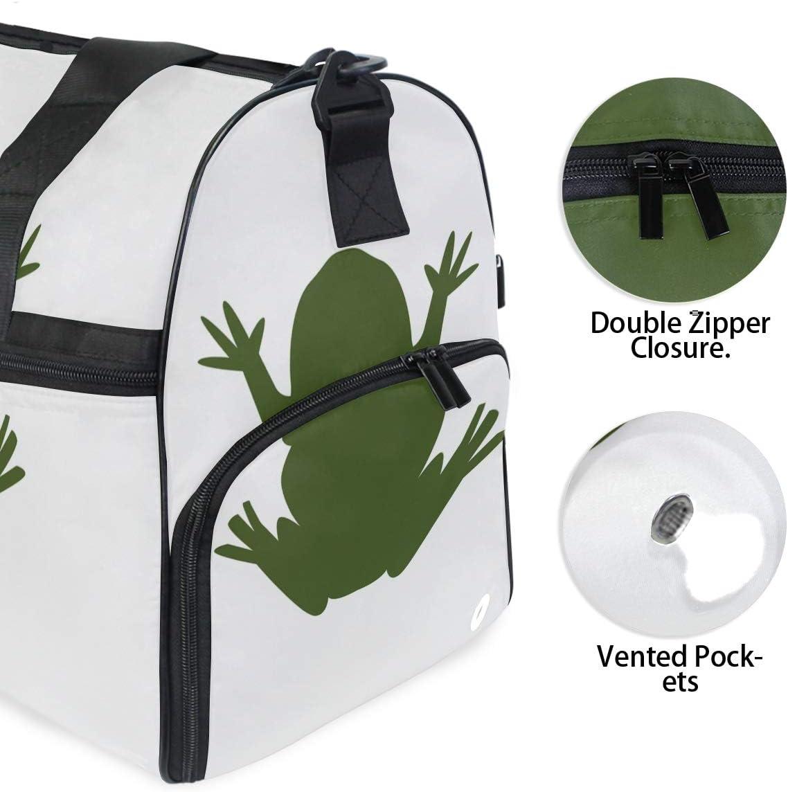 FAJRO Duffle Bag for Women Men Fat Frog Travel Duffel Bag Large Size Water-proof Tear Resistant