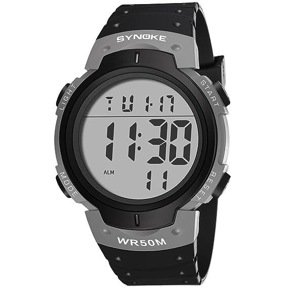 Digital Reloj Deportivo, Al Aire Libre Reloj para Hombres Resistente Al Agua Relojes Electrónicos 30 M Resistente Al Agua: Amazon.es: Relojes