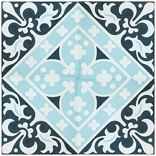 Rustico Tile and Stone RTS20 Victorian Cement Tile Pack of 13, 8