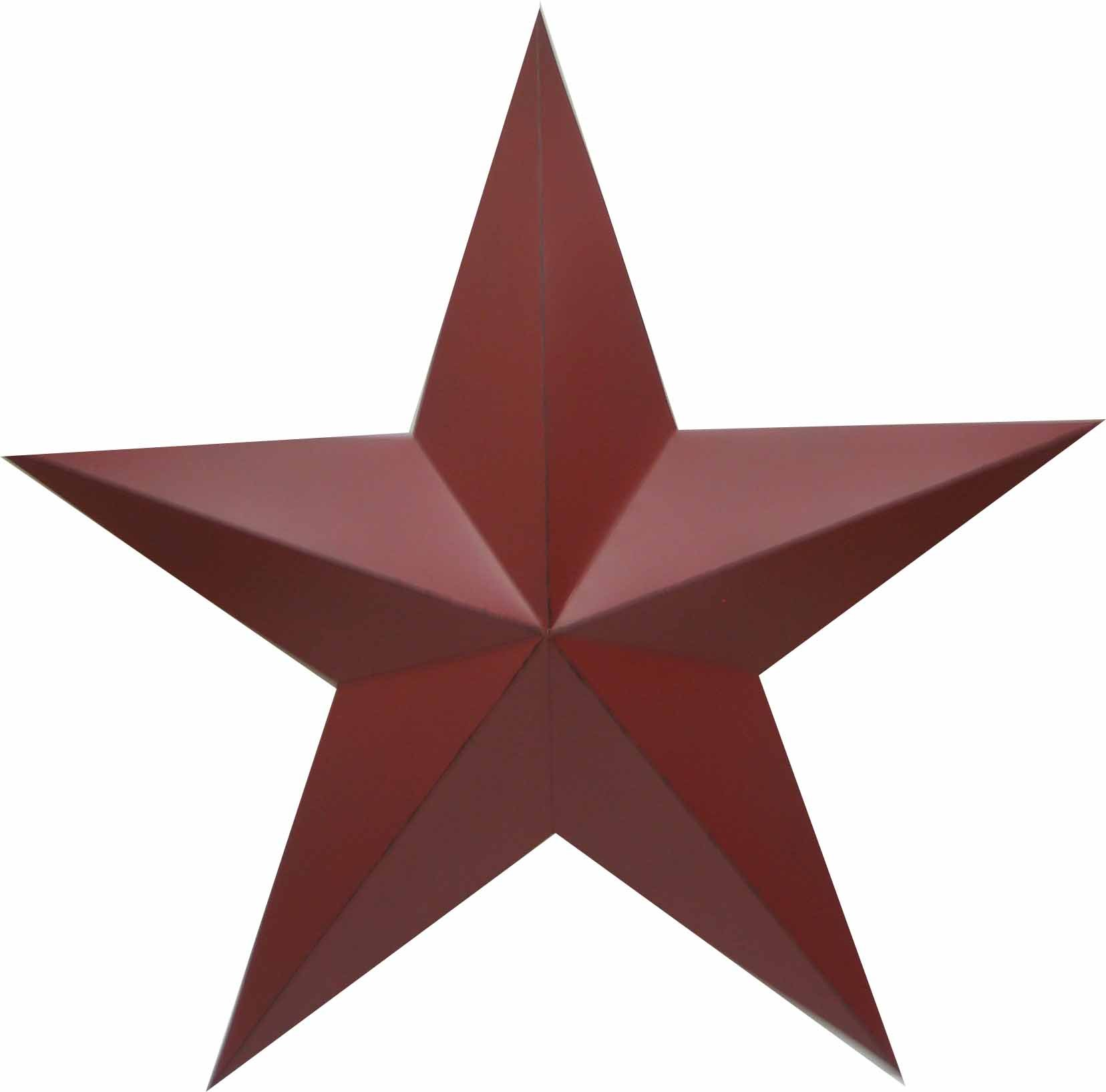 Craft Outlet Antique Star Wall Decor, 36-Inch, Barn Red by Craft Outlet Inc