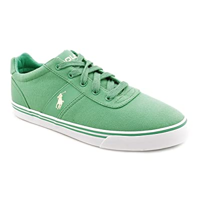 Polo Ralph Lauren Hanford Mens Green Canvas Sneakers Shoes Size UK ... df9cd9bf083