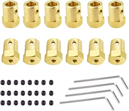 Hamineler 20 Pieces 7mm Motor Flexible Coupling Coupler Connector with Screws for Car Wheels Tires Shaft Motor Accessories