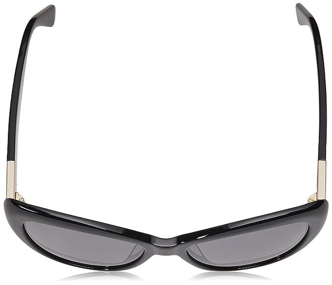 273ba9f389 Amazon.com  Kate Spade New York Womens Emmalynn S Black Grey Polarized One  Size One Size  Clothing