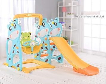 Thole Toboganes Infantil y Columpios Juguetes Niños Diapositiva para con Canasta Interior/Exterior/Parque/Jardín Adecuado para bebé de 2-8 años,Blue: Amazon.es: Deportes y aire libre