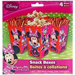 Disney Minnie Mouse 4pk Paper Snack Boxes
