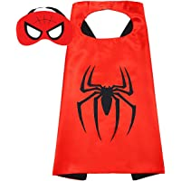 Mumoo Bear Double sided Kids or adults mini Spider-Man Spiderman comic superhero costume with mask and cape, 27*27