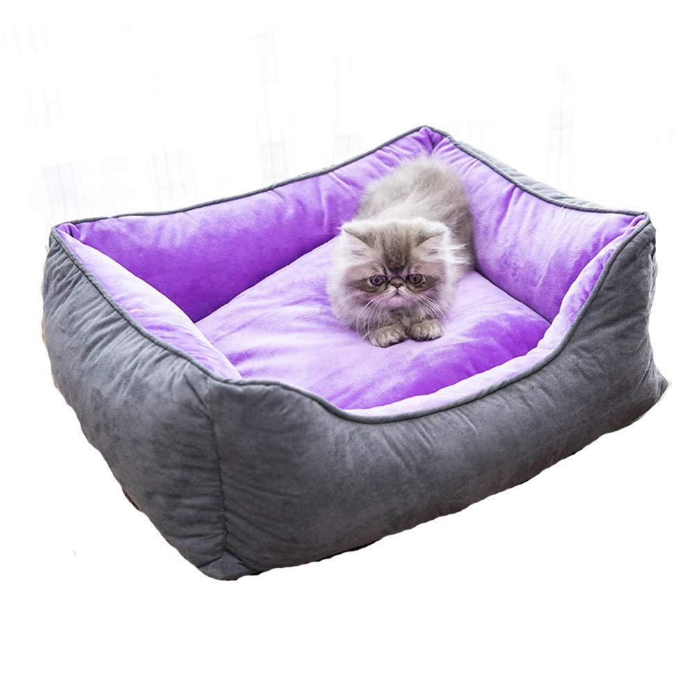 A Medium A Medium RMXMY Detachable Cat Litter Mat Small Medium-Sized Large Dog Winter Warm Soft Pet Bed for Cats & Dogs, Small Dog Bed, Assorted colors & Sizes (color   A, Size   M)