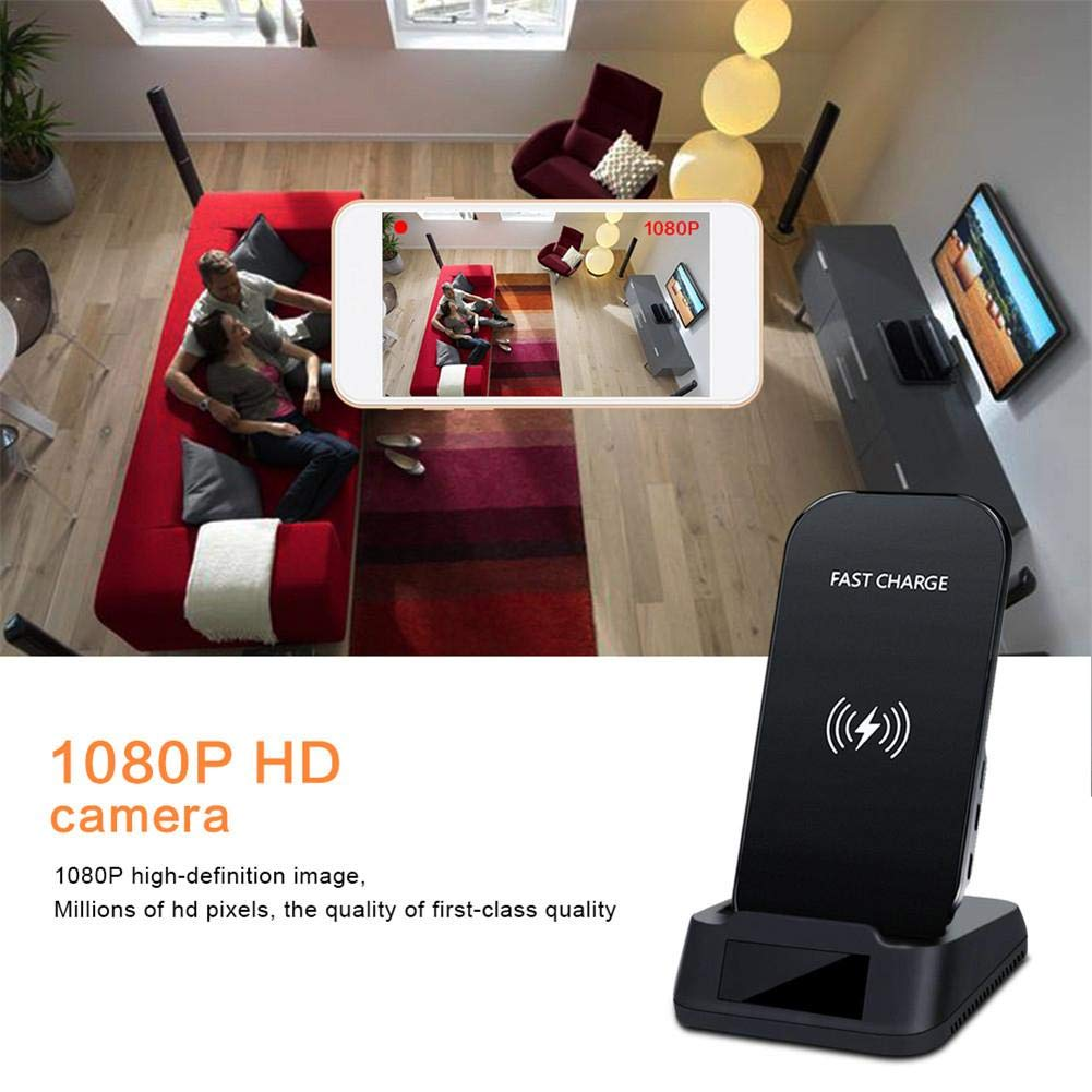 Jannyshop 1080P Indoor Camera with WiFi Fast Wireless Charge Motion Detection Night Vision for All Qi-Enabled Phones by Jannyshop (Image #6)