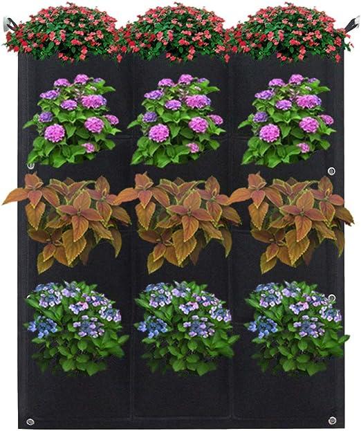 Cozyhoma Maceta de jardín Vertical, Colgar en el jardín, para Colgar en la Pared, para Colgar