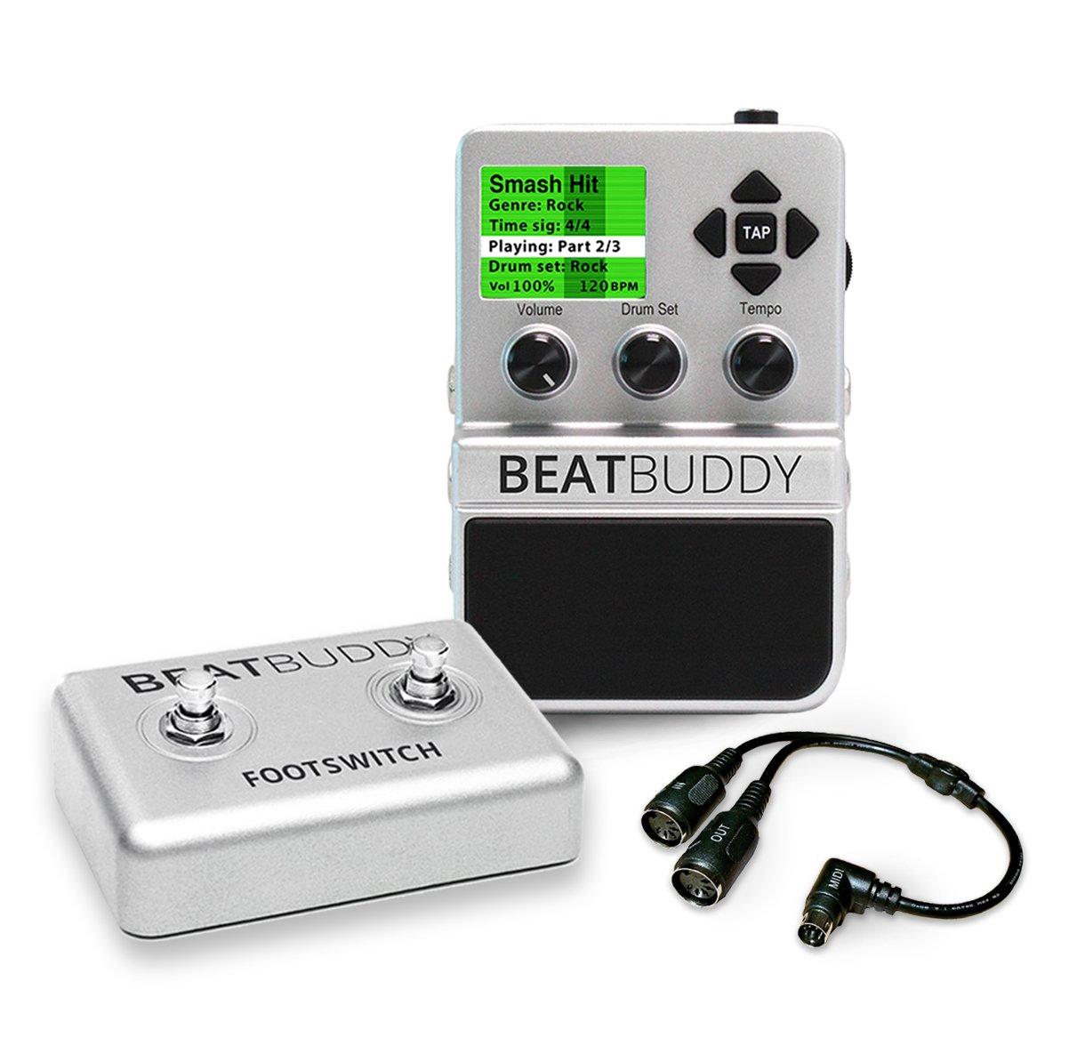 Singular Sound BeatBuddy Guitar Pedal Drum Machine + Footswitch + MIDI breakout cable BUNDLE