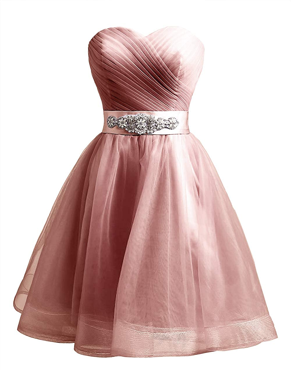 bluesh Uther Sweetheart Beaded ALine Homecoming Dress Short Cocktail Dress Tulle Porm Gown