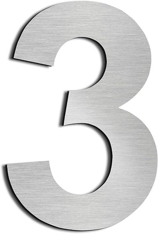 3,8 cm de altura y 0,2 cm de grosor. Adhesivo de acero inoxidable con n/úmero de casa SUS304 Nanny 1.5in-0
