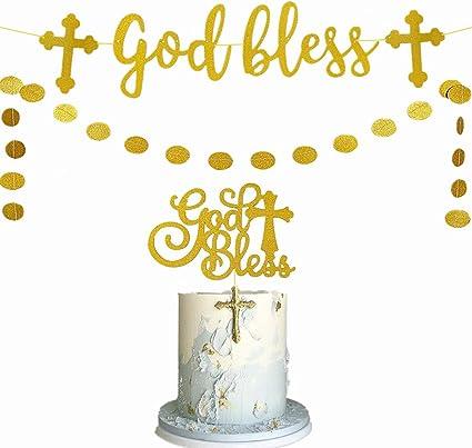 communion cake topper God bless cake topper banner godbless cake topper cake topper confirmation cake topper christening cake topper