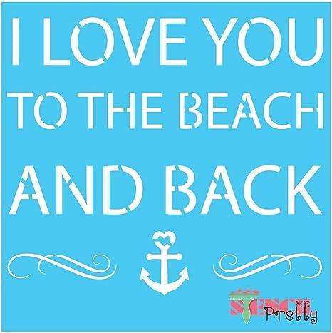 7 x 14 | Standard Brilliant Blue Color Material Beach Anchor Ocean D/écor-S Seas The Day Quote Nautical Stencil