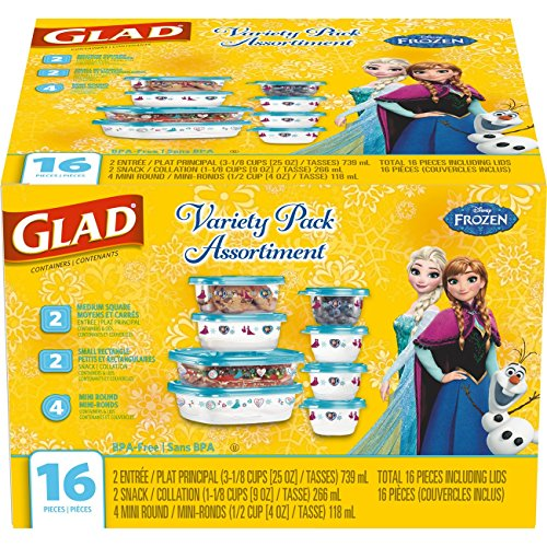Glad Food Storage Containers - Disney Frozen Variety Pack - 16 count