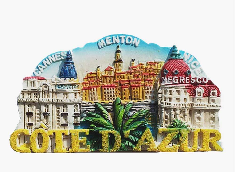 Cote d'Azur Cannes Menton Nice France 3D Fridge Magnet Travel Souvenir Gift Collection Home & Kitchen Decor Magnetic Sticker Refrigerator Magnet