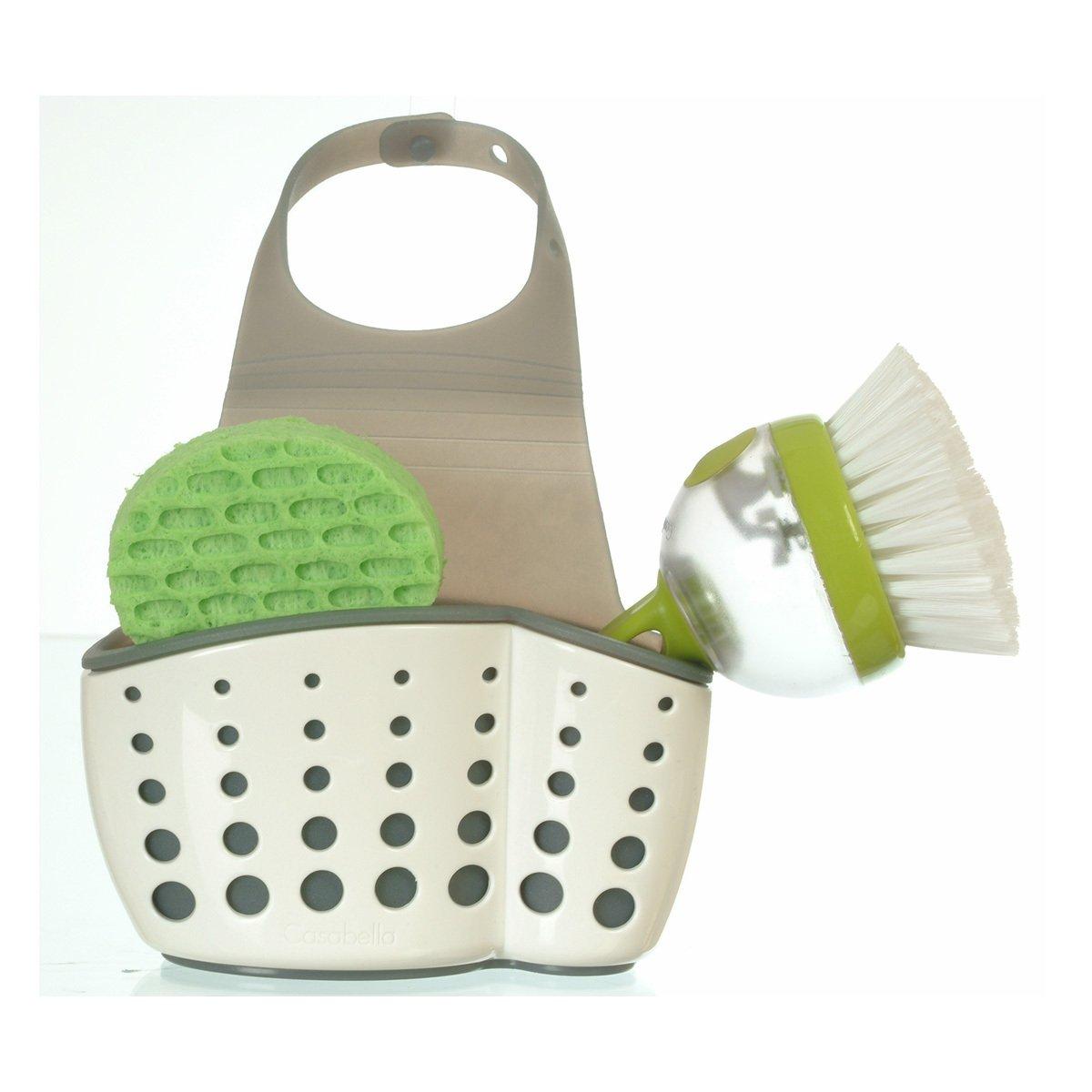 Kitchen Sink Sponge Holder: Sink Sider Faucet Caddy Sponge Holder For Scrubbers