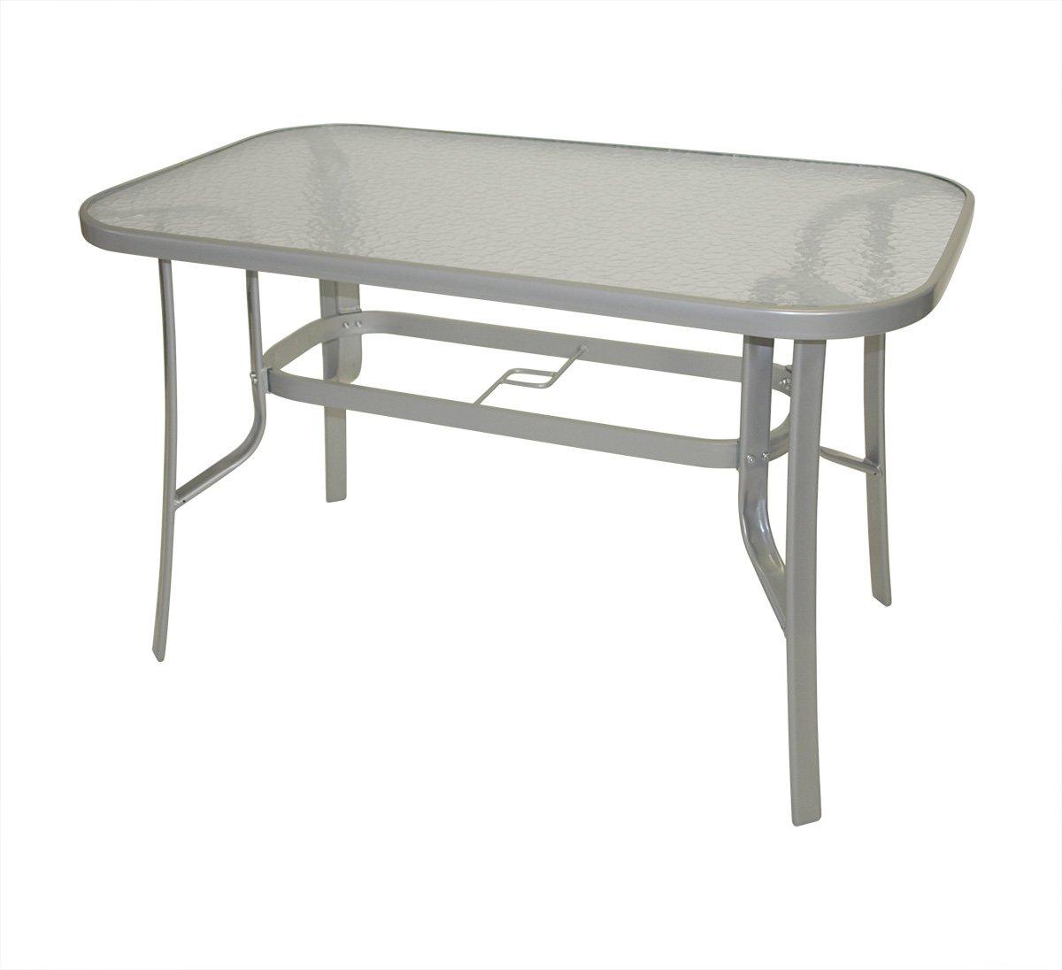 Gartentisch alu glas  Amazon.de: Gartentisch Florenz 70x120cm aus Metall + Glas ...