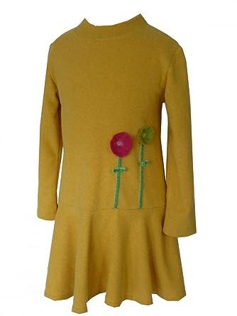 76195db4d1d69 Trocadero - Mode für Kinder - Robe - Uni - Manches Longues - Fille Jaune  Jaune