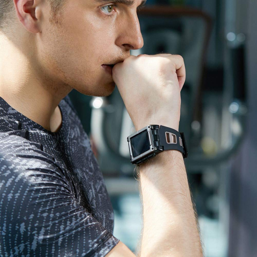 Lovewe Professional IP68 Waterproof Swimming Smart Watch Fitness Tracker Bluetooth GPS Wristband Colorful UI (Black) by Lovewe_Smart Watch (Image #6)