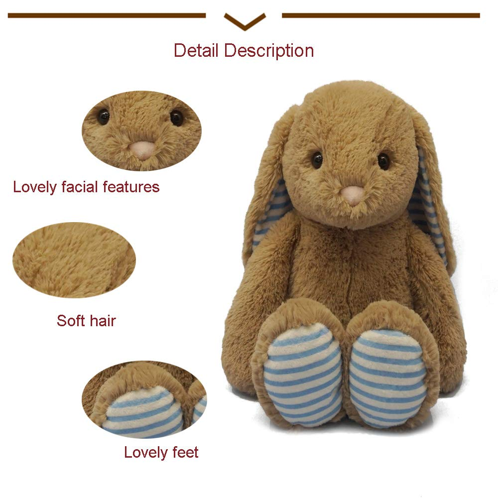 DORE Rabbit Plush Potter Peter Brown for The Girl 11\'\' Birthday Gifts