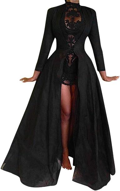 Vestido de mujer de gasa, dos piezas, perlas, largo vestido de ...