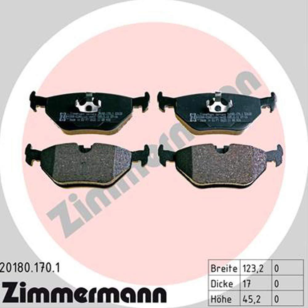 BREMSBELÄGE VORNE BMW Z3 E36 1.8 1.9 BJ 95-03 ZIMMERMANN BREMSSCHEIBE