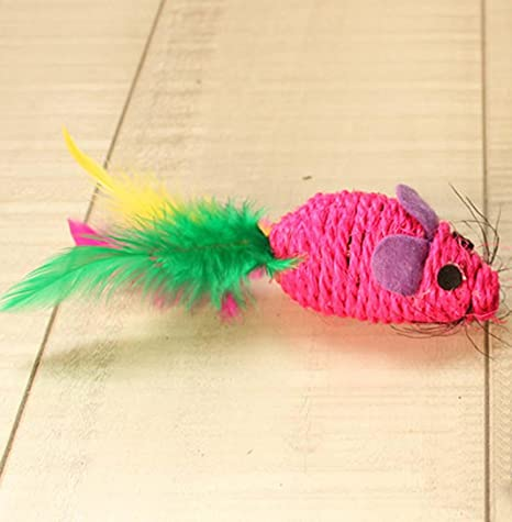 WSS Sisal natural debe tener juguetes para divertir al gato y gato ratón fuentes del animal