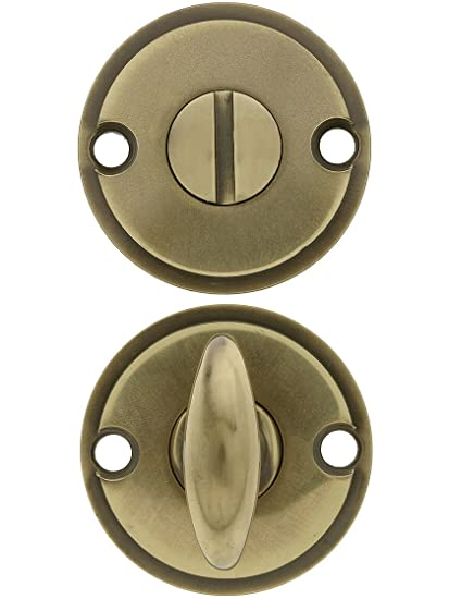 Charmant Thumbturn Privacy Door Bolt In Antique Brass