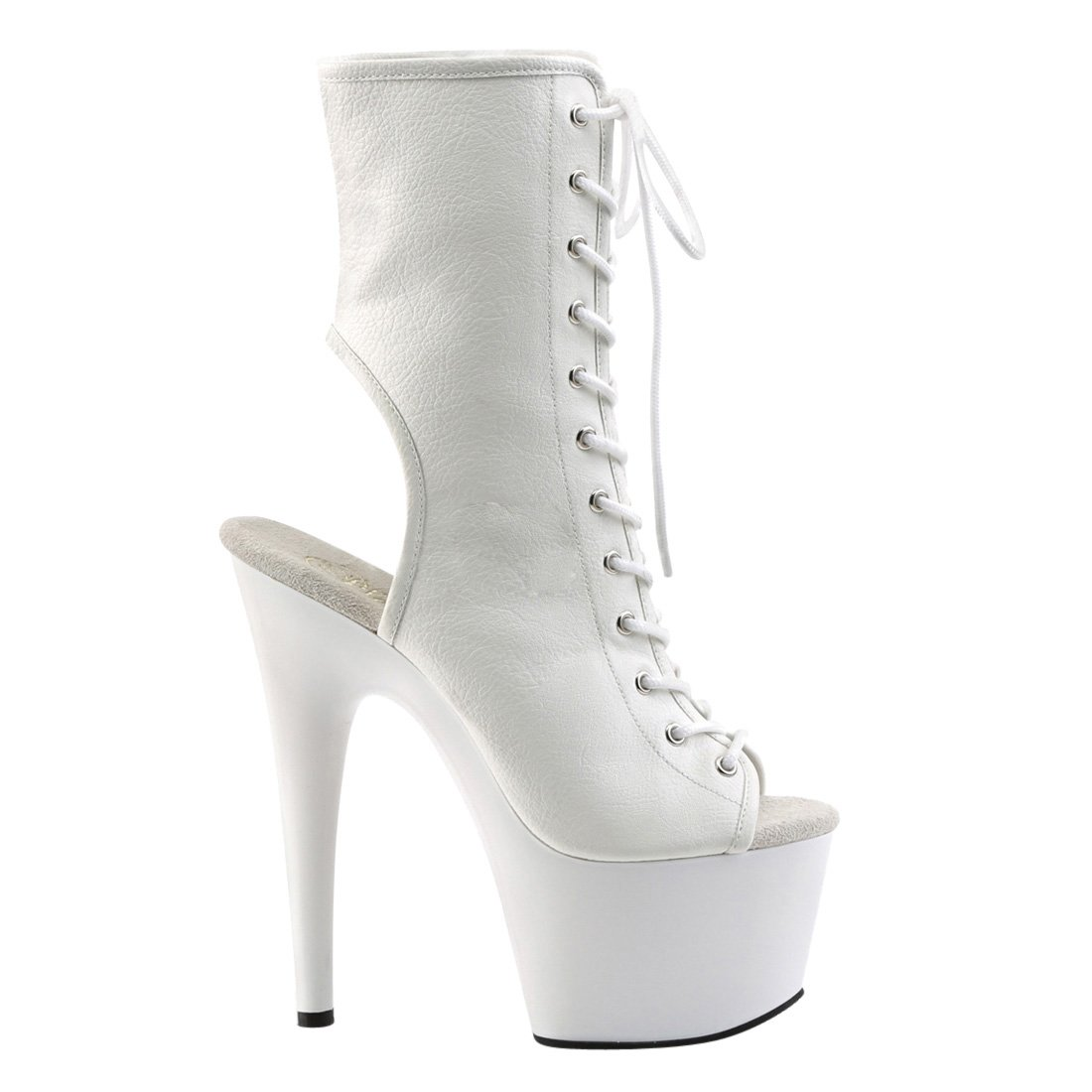 Pleaser Women's Adore-1016 Ankle Boot B01N08HHYK 10 B(M) US White Faux Leather/White