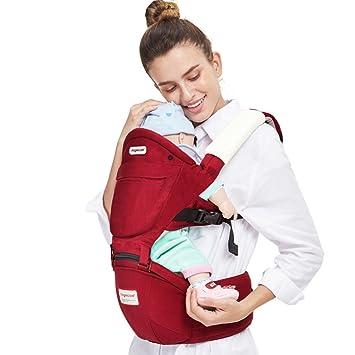 Angelcare Baby Carrier/ergonómico Hipseat/mochila 4 en 1 Carry formas Carrier/apta para 3 - 36 meses/cintura cinturón ergonómico Wrap Sling Mochila (rojo): ...