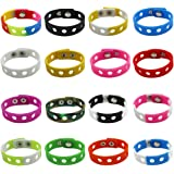BSTGIFT 16 Colors 7 Inch Kids Bracelets for Shoe Charms Adjustable Cute Wristband Birthday Gifts