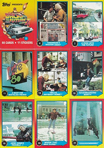 BACK TO THE FUTURE II 2 MOVIE 1989 TOPPS BASE CARD & STICKER SET OF 88 + 11 ()