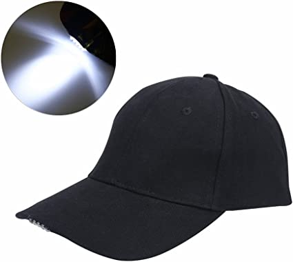 Head Torch With Clip  Fits To Baseball Cap Peak