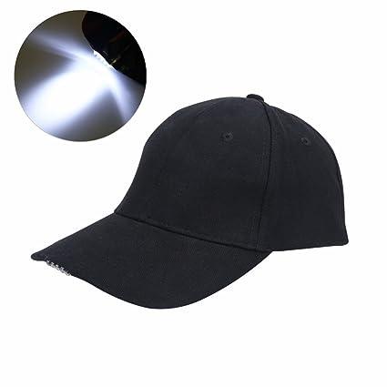 04198351257 Vbestlife LED Hat Baseball Cap Hat - Ultra Bright Lights Baseball Cap  Easily Adjustable Baseball Hat Headlight Flashlight for Hunting Fishing  Camping Hiking ...