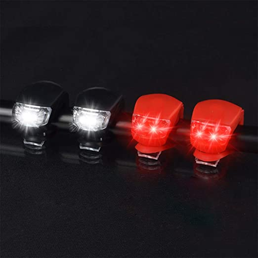 Bicycle Lamp Bike Light LED Silicone Front /& Rear Lights Taillight de Z 16