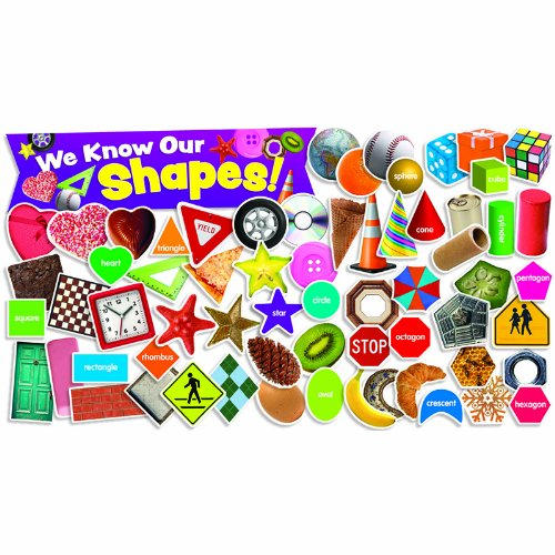 Scholastic Teacher's Friend Shapes in Photos Mini Bulletin Board, Multiple Colors (TF8094)