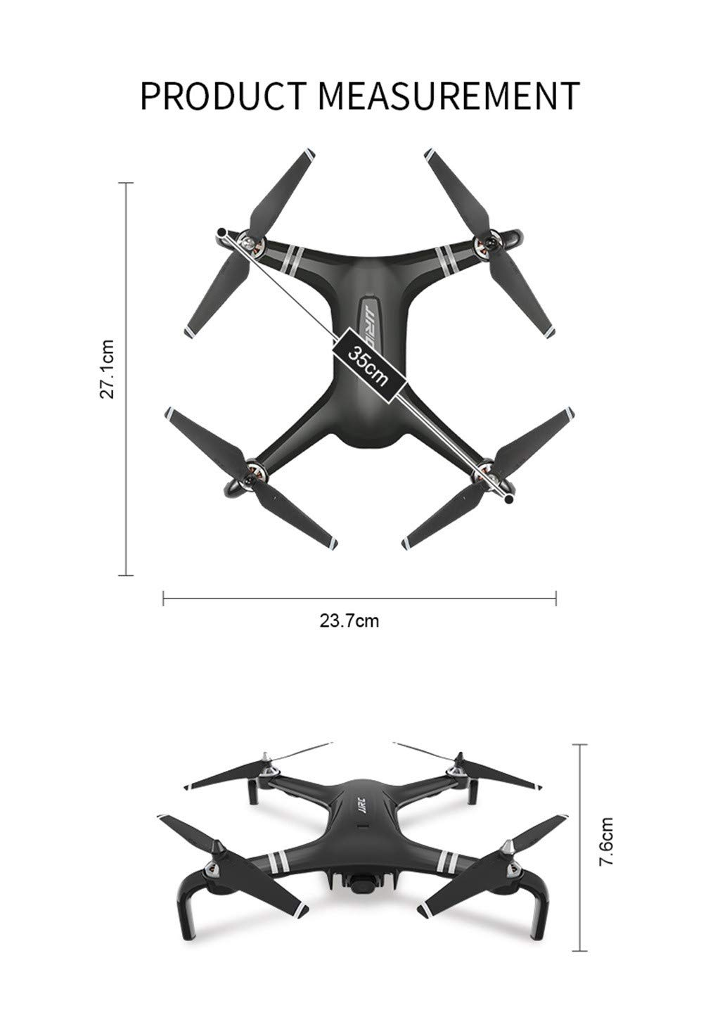 MOZATE JJRC X7 5G-WiFi FPV GPS 1080P HD Camera Remote RC Drone Quadcopter Altitude Hold (Black) by MOZATE (Image #3)